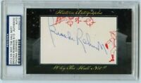 2012 Historic Autographs Why The Hall Not? BROOKS ROBINSON Cut Auto /10 PSA
