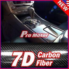 4' x 5' FT 7D Premium Hi Gloss Black Carbon Fiber Vinyl Wrap Bubble Free Release