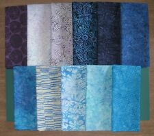 """RIVIERA BATIKS"" by Timeless Treasure Tonga, 11 Fat Quarters 100% Cotton Grp #2"