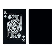Creative Black Plastic PVC Poker Waterproof Magic Playing Cards Table Game Set #