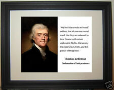 Thomas Jefferson Declaration of Independence Framed Photo Picture #d1