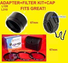 CAMERA LENS ADAPTER L120+FILTER KIT+CAP 67mm to NIKON COOLPIX L120 L 120  67 mm