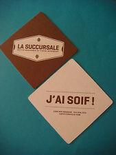 Beer Coaster: La Succursale Petite Brasserie ~ Montreal, Quebec, CANADA Brewery