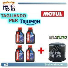 TAGLIANDO FILTRO OLIO + 4LT MOTUL 5000 10W40 TRIUMPH BONNEVILLE 865 2011
