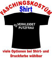Verkleidet als Putzfrau T-Shirt Kostüm Fastnacht Fasching Karneval Verkleidet