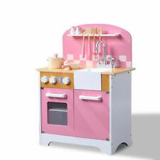 BoPeep Kids Wooden Kitchen Pretend Play Set Children Cooking Toy Cookware Chef