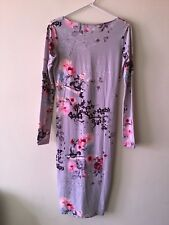 ASOS Sheath Bodycon Fitted Iconic Japanese Garden Print Dress Size UK/AUS 10 NWT