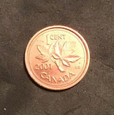2001 Canada 1 Cent Penny. ERROR Dot Above 'II' After elizabeth. Ships From CA