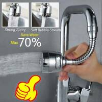Moveable Kitchen Tap Head 360° Rotatable Faucet Extender Water Saving Sprayer US