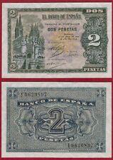 ESPAÑA 2 PESETAS año 1938. Serie I. Nº 9620897. Catedral de Burgos. PLANCHA.
