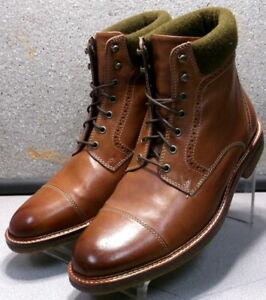271776 ESBT50 Men's Shoes Size 9 M Dark Tan Leather Boots Johnston & Murphy