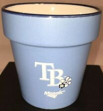 "New TAMPA BAY RAYS FLOWER Desk POT  MOTHERS DAY BASEBALL GAMEDAY GIVEAWAY ""Rays"""