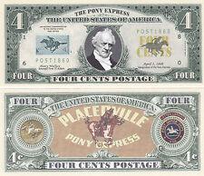100 Pony Express Postal History Novelty Money Bills Lot