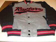 Toronto Raptors NBA Basketball Starter Jacket Grey Black Large Word Mark Script