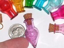 1 Glass Tear potion Bottle vial tube cork pendant perfume charm Fairy * Purple