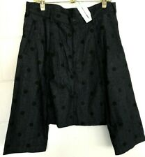 New COMME DES GARCONS shirt SHORTS Lagenlook Size S Art-to-Wear NWT Denim DOTS