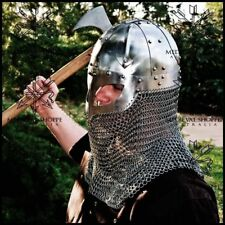 Viking Era Ocular Spangen Helm Helmet With Chain Mail Curtain (16G)