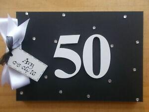 Personalised 50th Birthday Guest Book Scrapbook Memory Photo Album Gift