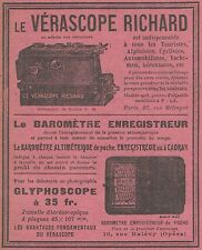 Z9408 Vérascope RICHARD - Glyphoscope -  Pubblicità d'epoca - 1909 Old advert