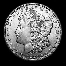 1921 S ~**ABOUT UNCIRCULATED AU**~ Silver Morgan Dollar Rare US Old Coin! #321