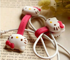 2pcs HelloKitty Earphone cord winders Cable Tidy Wrap Wires Organizer Holders c6
