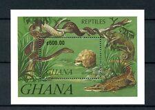 Ghana 1992 MNH Reptiles 1v S/S Snakes Lizards Tortoises Crocodiles Stamps