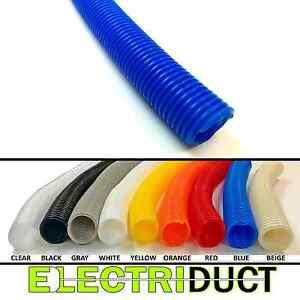 Split Wire Loom Flex Tubing Cable Conduit Polyethylene - Size & Color Options