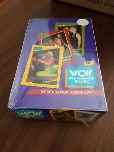 Sealed WCW WWE WWF Wrestling 1991 Impel Card Box - unopened packets