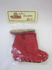 """Tallina Baby Doll Boots Red Side Button Shoes Style 254 Size 1 95mm 3 3/4"""""""