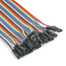40pcs Dupont Cables FEMALE TO FEMALE Jumper GPIO Wire Ribbon Breadboard Arduino