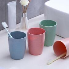 Straw Toothpaste Cup Brush Rack Toothbrush Water Mug Plastic Travel V0J4