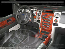 FORD F150 WOOD GRAIN DASH KIT.FITS 2009-2012 BENCH SEATS NO NAVIGATION