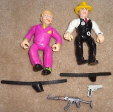 RP2065 Vtg Disney PlayMates Toys Dick Tracy Figures & Accessories Lot x2