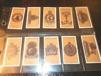 1917 Colonial  Indian Army BADGES military cards set-1 card Tobacco Cigarette