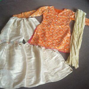 Girls Sharara Gharara Partywear Anarkali Salwar Kameez Indian Eid