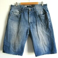 Lee Men's Shorts Size 34 Lo Rize Straight Blue Button Fly Low Rise