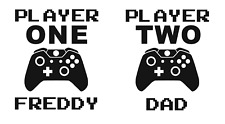 Personalised Player 1 & Player 2 Vinyl Decal Stickers - Xbox One PS4 PS5 Switch