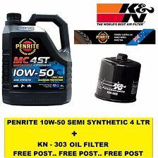 KN-204 OIL FILTER  + 4 Litre PENRITE 10W50 SEMI SYNTHETIC BIKE ENGINE OIL