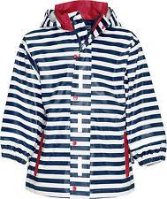 Blu 116 Playshoes Regenjacke Maritim Impermeable Bambina (marine/weiß) (nvc)