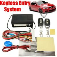Car 2 Door Central Locking Remote Control Keyless Entry System Kit Universal  &