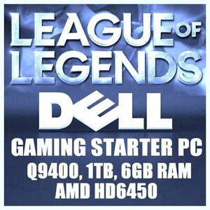 League of Legends Dell Gaming PC Quad Core, 6GB Ram, 1TB HD, HD6450 GPU, WIN10