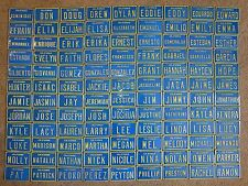 "VTG 1960/'s USA MINI BIKE LICENSE VANITY PLATE METAL EMBOSSED NOS NAME /""SUE/"""