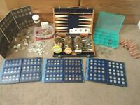 COIN LOT SALE, OLD US COINS, KEY DATES, SILVER, FOREIGN COINS TOTALING 55+ ITEMS