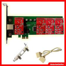 Asterisk Card TDM400 Low Profile,4 FXO Freepbx Elastix card PCI-E aex410 tdm410