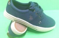 Boys Size 4,5,7 Sneakers US POLO ASSN NAVY BLUE Canvas Casual Dress Shoes