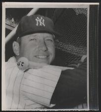 1963 Orig Baseball Wire Photo - Mickey Mantle