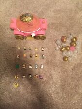 Squinkies Cinderella Carriage Case and Squinkies Lot - 21 Pieces - EUC