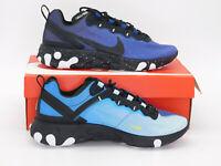 Nike React Element 55 Blue Void Black CK1410-400 Men US Sz 9.5