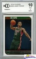 2014/15 Panini Hoops #262 Jabari Parker FIRST NBA ROOKIE BECKETT 10 MINT Bucks