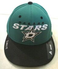 NEW NHL Dallas Stars Adidas Fitted Hat Cap size SM/MD Climate Green Black Sample